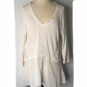 Anthropologie Meadow Rue Off white blouse